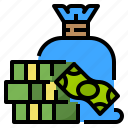dollar, earn, money, profit icon