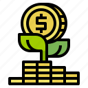 dollar, earn, growth, money, profit icon