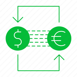 banking, currency, euro, exchange, money icon