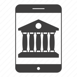 banking, device, mobile, screen, smartphone icon