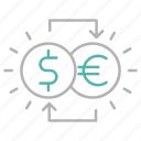banking, currency, exchange, money icon