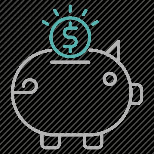 Bank, banking, piggy, savings icon - Download on Iconfinder