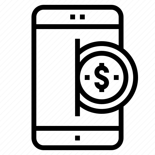 mobile, payment icon
