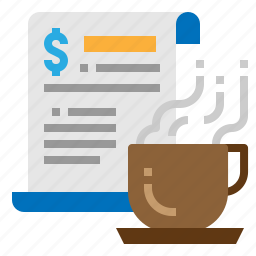 business, coffee, news, time icon