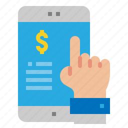 finance, mobile, payment, transaction icon