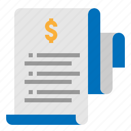 bill, installment, list, tax icon