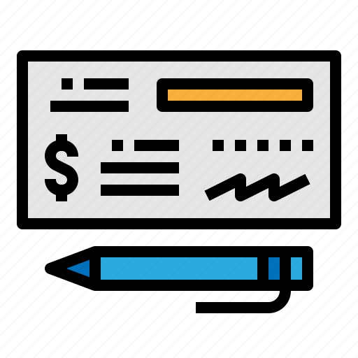 banking, check, payment icon
