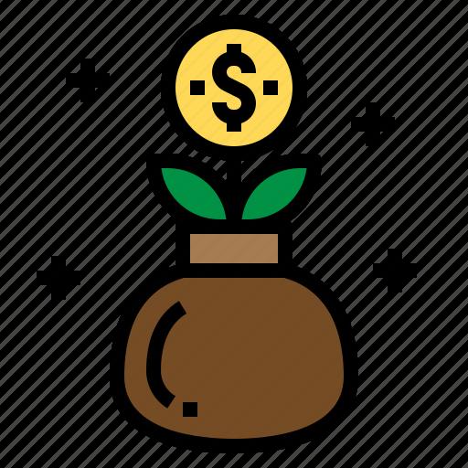 fund, growth, investment, money icon