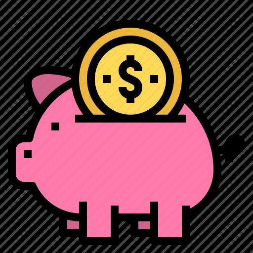 bank, finance, investment, piggy icon