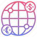 exchange, global, money, transfers icon
