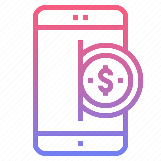 banking, cash, mobile, payment icon