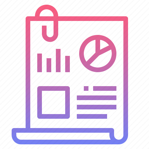 document, finance, note, report icon