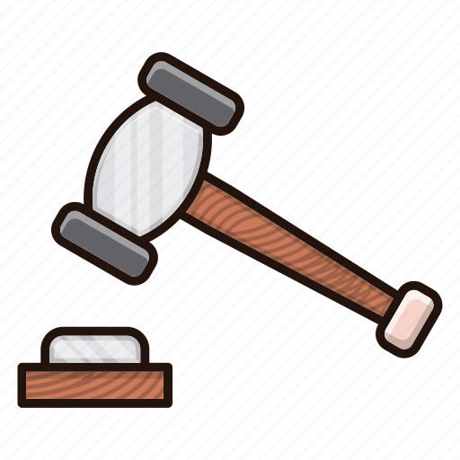 auction, banking, law icon