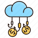 banking, funds, hunting, money icon