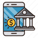 bank, banking, digital, mobile, online icon