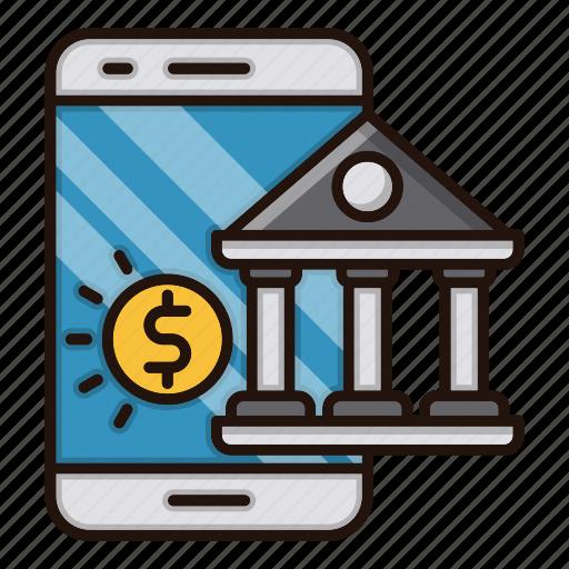 bank, banking, digital, mobile, online icon