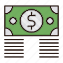 banking, bundle, currency, dollar, money icon