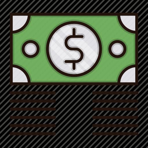 banking, bundle, currency, dollar, money icon