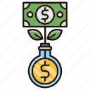 banking, growth, making, money icon