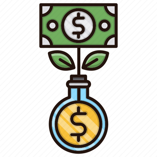 banking, growth, making, money icon