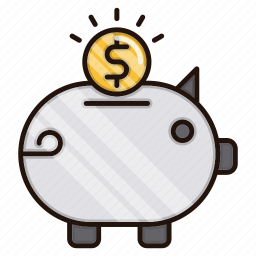 bank, banking, piggy, savings icon