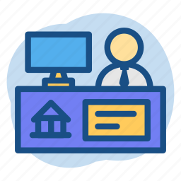 banker, banking, customer, service, teller icon