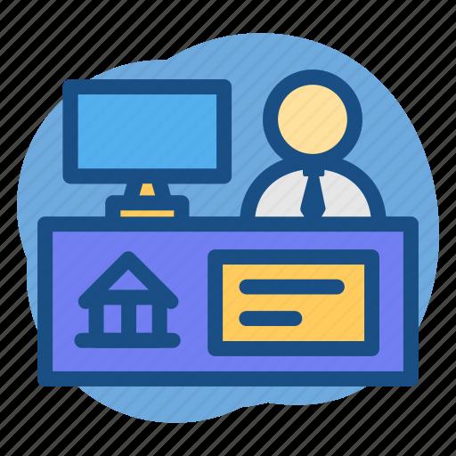 Banker, banking, customer, service, teller icon - Download on Iconfinder