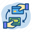 banking, card, cash, deposit icon