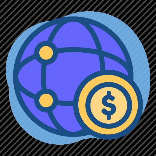 Banking, dollar, link, money, world icon - Download on Iconfinder
