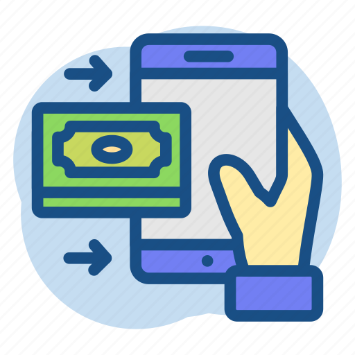 banking, mobile, money, phone, received icon