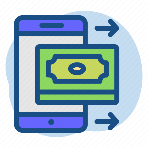 banking, mobile, money, send icon