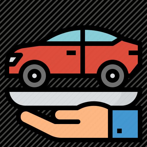 bank, buy, car, loan icon