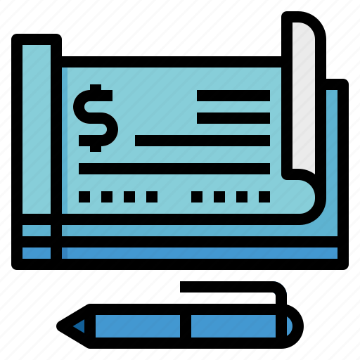 checkbook, draft, money, payment icon