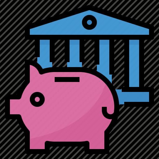 bank, banking, deposit, finance, saving icon