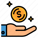 coin, dollar, earn, money, profit icon