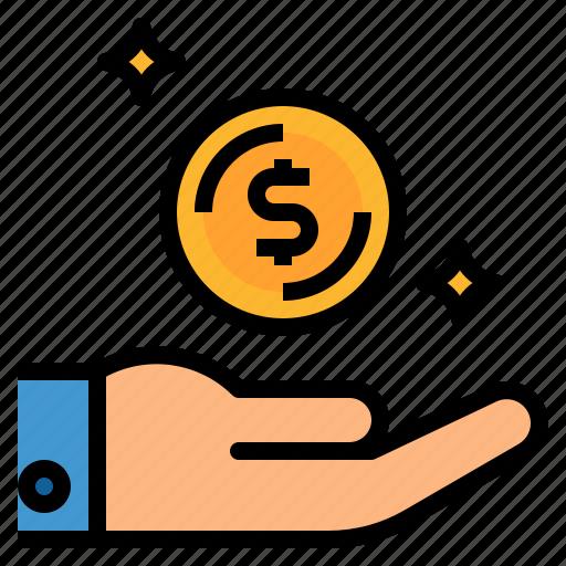 coin, dollar, earn, money, profit icon