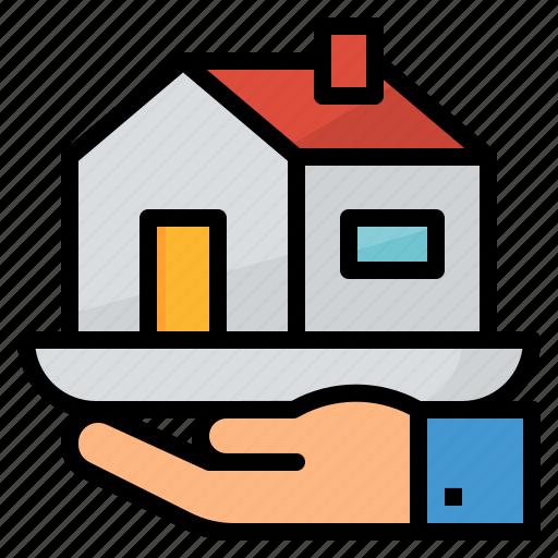 bank, housing, loan, money icon