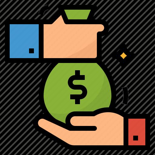 bank, cost, loan, money icon