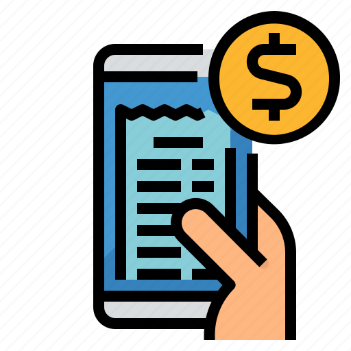 bill, card, money, online, payment icon