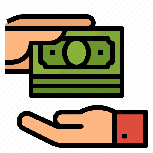 dollars, money, payment icon