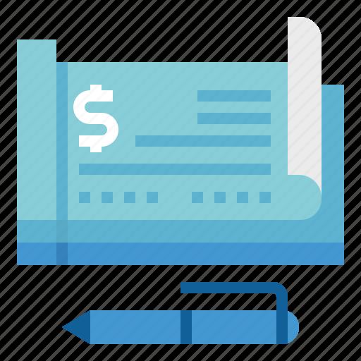 checkbook, draft, money, payment icon