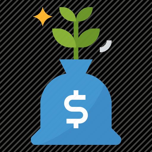 growth, interest, investment, profit icon