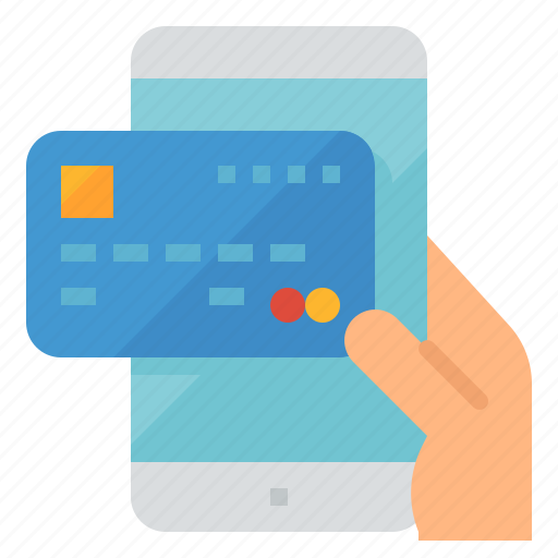 card, credit, mobile, payment icon
