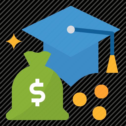 finance, money, scholarship, study icon
