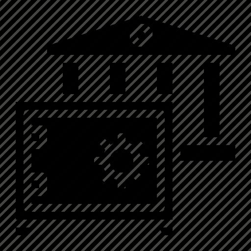 banking, box, safe, savings, security icon