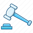 auction, gavel, hammer, law, tool