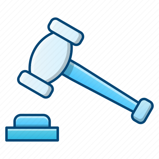 auction, gavel, hammer, law, tool icon
