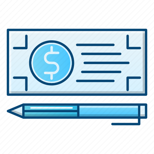 bank, banking, check, money, payment icon