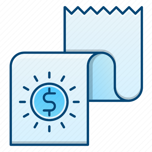 document, financial, paper, report icon