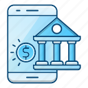 banking, mobile, online, phone icon